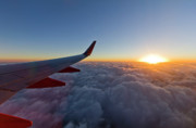Airlines Photo Originals - Sunrise Above the Clouds on Southwest Airlines by Dustin K Ryan