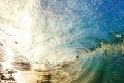 Backlit Posters - Sunrise and Wave Poster by Quincy Dein - Printscapes