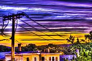 Telephone Pole Prints - Sunrise Print by Andrew Kubica