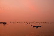 Sunrise At Arabian Sea Print by Photograph by Jayati Saha