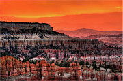 Rock Formation Metal Prints - Sunrise At Bryce Canyon Metal Print by Photography Aubrey Stoll