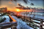 Gull Digital Art Prints - Sunrise at Cotton Bayou  Print by Michael Thomas