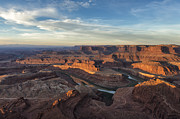 Colorado Travel Prints - Sunrise At Dead Horse Point State Park Print by Sandra Bronstein