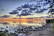 Door County Prints - Sunrise at Elsinore Print by Scott Norris