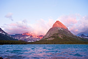 Many Glacier Prints - Sunrise at Glacier National Park Print by Andrew J Martinez and Photo Researchers