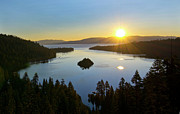 Early Prints - Sunrise at Lake Tahoe - California Print by Brendan Reals
