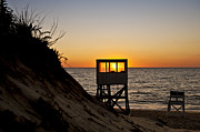 Nauset Beach Prints - Sunrise at Nauset Beach Print by John Greim