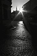 Prague Photo Posters - Sunrise at Prague Poster by Hideaki Sakurai
