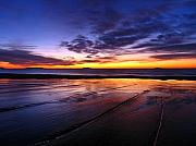Sunset Seascape Posters - Sunrise at Singing Beach Poster by Juergen Roth