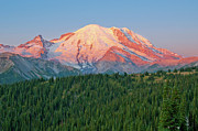 Mt Rainier National Park Art - Sunrise at Sunrise by Bob Harbison