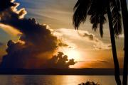 Sonnenaufgang Prints - Sunrise at Tacloban Print by Joerg Lingnau