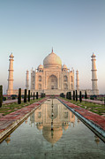 The Past Prints - Sunrise At Taj Print by Pierre Turtaut