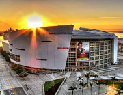 American Airlines Arena Framed Prints - Sunrise at the AAA Framed Print by Joe Myeress