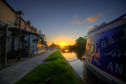 Boat Framed Prints Art - Sunrise At The Boat Inn by Yhun Suarez