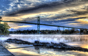 Sunrise At The Bridge Print by Sharon Batdorf