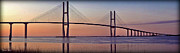 Sidney Posters - Sunrise at the Sidney Lanier Bridge Poster by Farol Tomson
