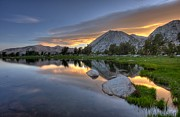 Park Scene Art - Sunrise At Upper Young Lake by by Sathish Jothikumar