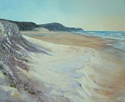 Sand Dunes Paintings - Sunrise Beach and Lions Head Noosa Heads Queensland by Chris Hobel