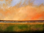 Minimalism Paintings - Sunrise Beach by Toni Grote