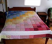 Bed Quilt Tapestries - Textiles - Sunrise Bed Quilt by Pam Geisel