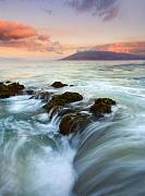 Sea Photo Originals - Sunrise Drain by Mike  Dawson