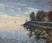 Rocky Paintings - Sunrise fishing by Ylli Haruni