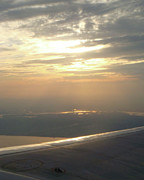 Arial View Photos - Sunrise from the Plane by Jessica Estrada