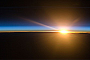 Heavenly Body Prints - Sunrise From the Space Station Print by Merton Allen
