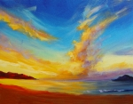 Heal Painting Framed Prints - Sunrise Framed Print by Hanako Hawaii