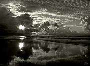 Monotone Prints - Sunrise in Black and White 2 Print by Jeff Breiman