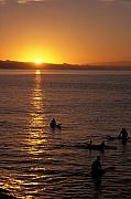 Sunrise In Capitola Print by Stan and Anne Foster
