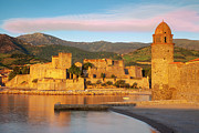 Languedoc Prints - Sunrise in Collioure Print by Brian Jannsen