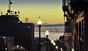 Cranes Prints - Sunrise in San Francisco Print by Rafael Reynolds