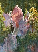 National Parks Paintings - Sunrise in the Canyon by Thomas Sorrell