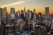 Sunrise In The City II Print by Janet Fikar