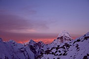 Natural Landmark Prints - Sunrise In The Nepal Himalayas Print by Pal Teravagimov Photography