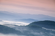 Pink Sunrise Framed Prints - Sunrise in the Smokies Framed Print by Andrew Soundarajan