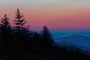 Smokey Mountains Paintings - Sunrise in the Smokies by Christa Eppinghaus