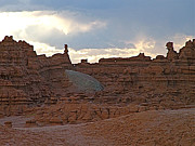Goblin Digital Art - Sunrise in Valley of the Goblins in Goblin Valley SP by Ruth Hager