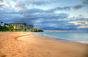 Lahaina Prints - Sunrise Kaanapali Beach Hotels  Print by Kelly Wade
