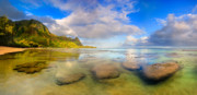 Tunnels Beach Prints - Sunrise Kauai Beach Print by Monica and Michael Sweet