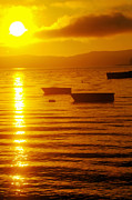 Small Boats Prints - Sunrise Near Liliwaup  Print by Jeff  Swan