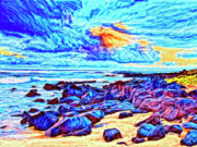 Kamuela Paintings - Sunrise Near Poipu Beach by Dominic Piperata
