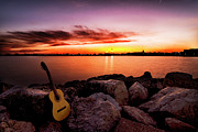 Musical Photo Metal Prints - Sunrise Notes Metal Print by Wilson Santinelli