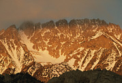 Owens Valley Art - Sunrise On Basin Mountain, Above Owens by Gordon Wiltsie