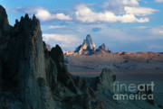 Monolith Prints - Sunrise on Church Rock  Print by Sandra Bronstein