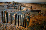 Sand Fences Acrylic Prints - Sunrise On Hatteras II Acrylic Print by Steven Ainsworth