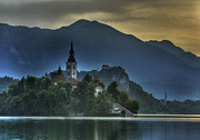Bled Prints - Sunrise on Lake Bled Print by Don Wolf