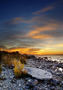 Rocky Beach Prints - Sunrise on Mackinac Island Print by Jill Battaglia