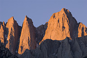 Mount Whitney Posters - Sunrise On Mount Whitney From Lone Pine Poster by Rich Reid